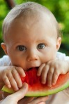 baby bite boy child cute eat eating food fruit